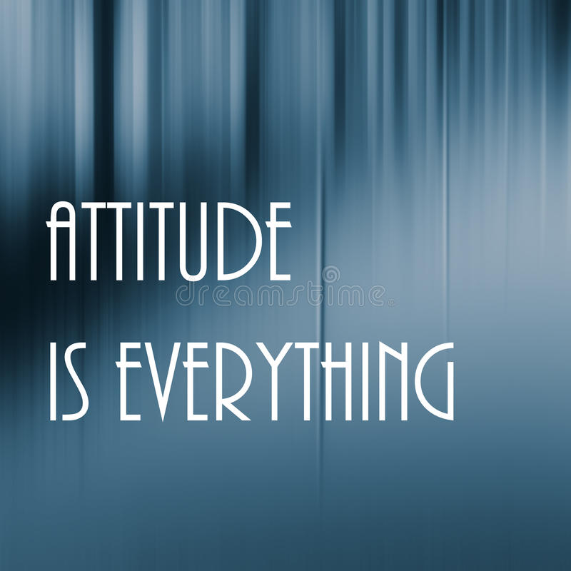 Attitude everything lettering. On blurred background stock image