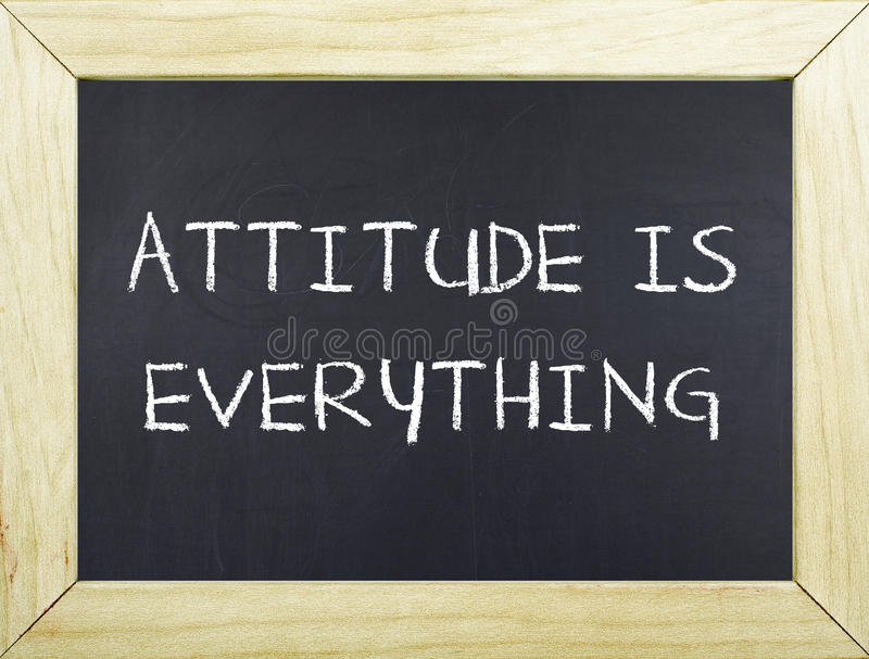 Attitude is Everything royalty free stock photo