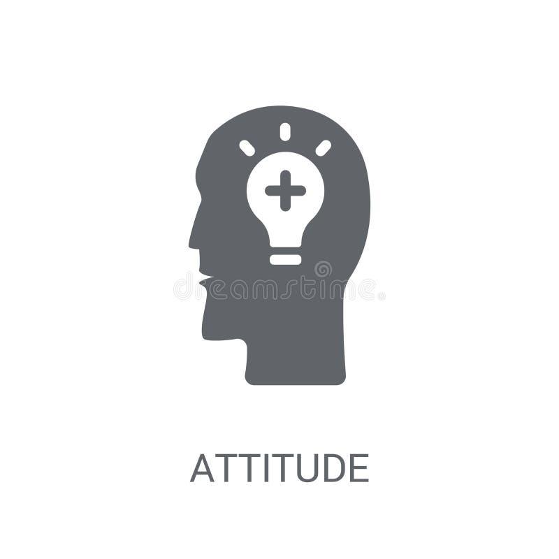 Attitude icon. Trendy Attitude logo concept on white background vector illustration