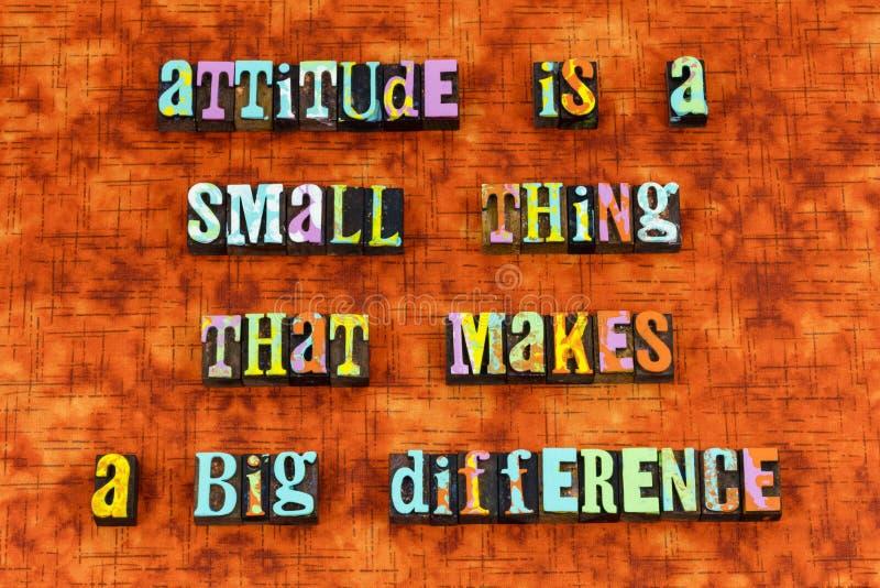 Attitude pensant l'impression typographique différente d'idées de succès illustration libre de droits
