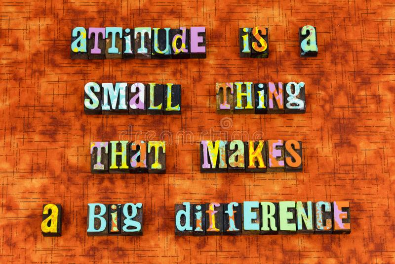 Attitude thinking different success ideas letterpress royalty free illustration