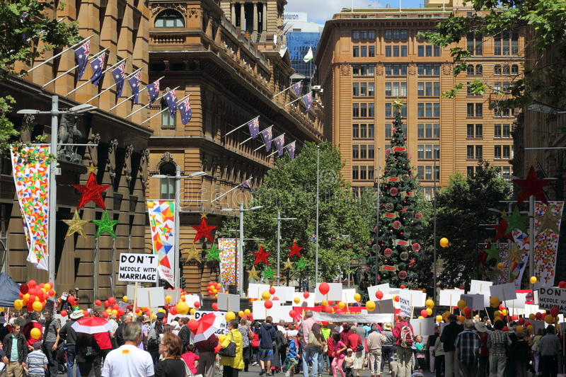 Attivisti contro il matrimonio gay fotografia stock libera da diritti