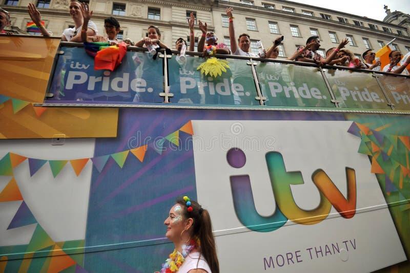 Attivisti gay al gay pride a Londra, Inghilterra 2019 fotografie stock libere da diritti