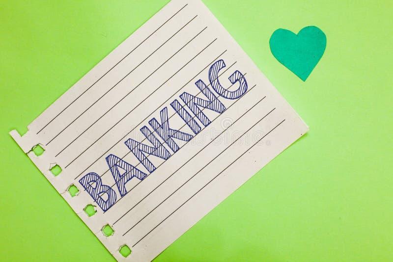 Attività bancarie del testo di scrittura di parola Il concetto di affari per l'affare condotto o i servizi offerti da finanza del fotografie stock