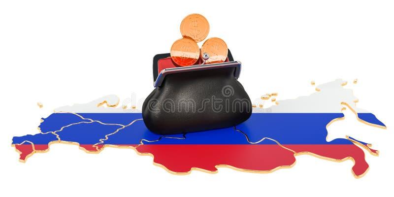 Attività bancarie, investimento o concetto finanziario in Russia rappresentazione 3d illustrazione di stock