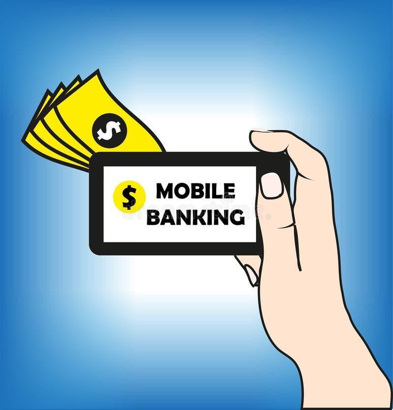 Attività bancarie mobili illustrazione di stock