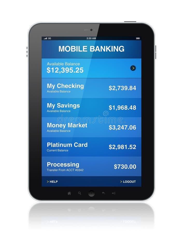 Attività bancarie mobili sul ridurre in pani digitale illustrazione vettoriale