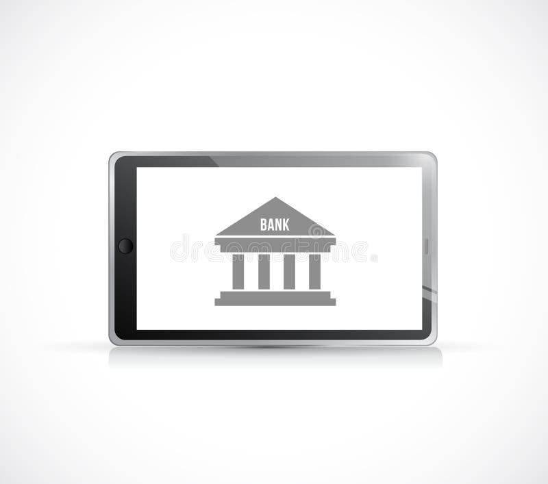 Attività bancarie online su una compressa Illustrazione di concetto illustrazione di stock