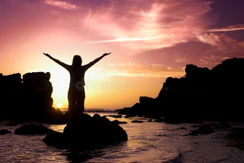 Attività di tramonto fotografia stock libera da diritti