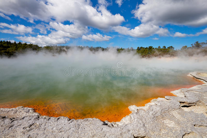 Attività geotermica fotografie stock
