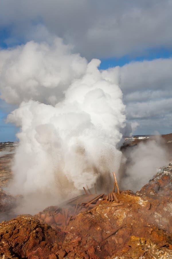 Attività geotermica - Islanda fotografia stock