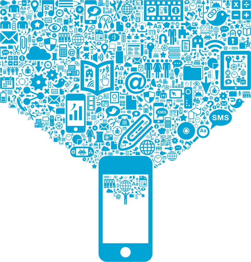 Attività mobile illustrazione di stock