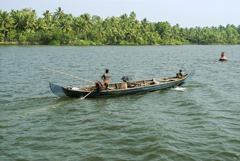 Attività vita quotidiana della barca del paese degli stagni immagini stock