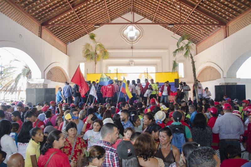 Atto politico di giurare in sindaci dello stato del Nueva Esparta immagini stock libere da diritti