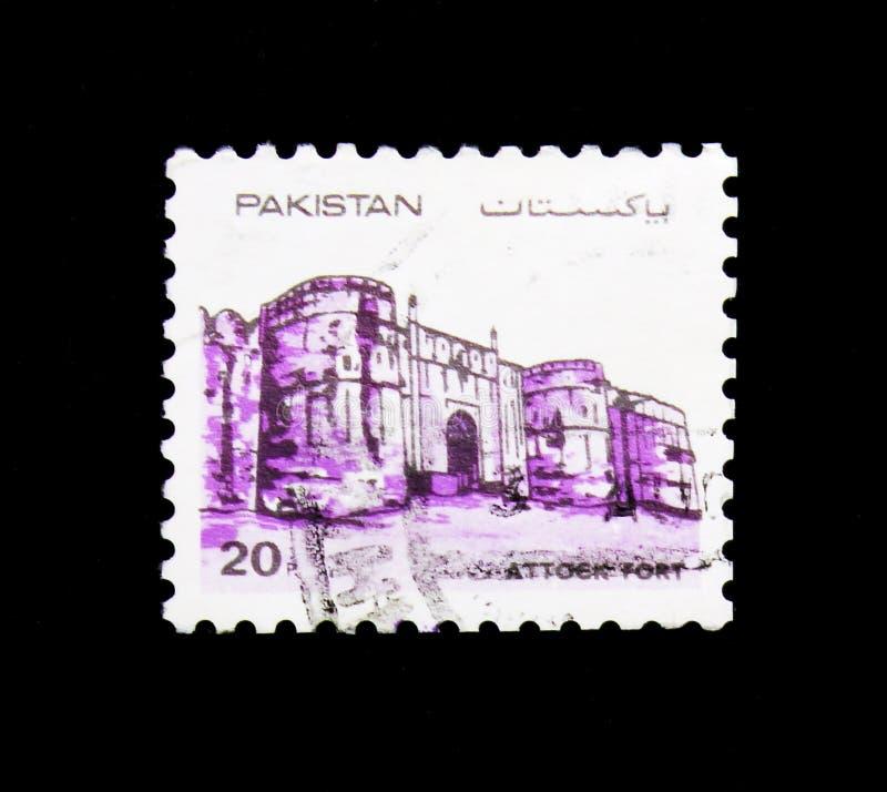 Attock fort, forty Pakistan seria około 1984, fotografia stock