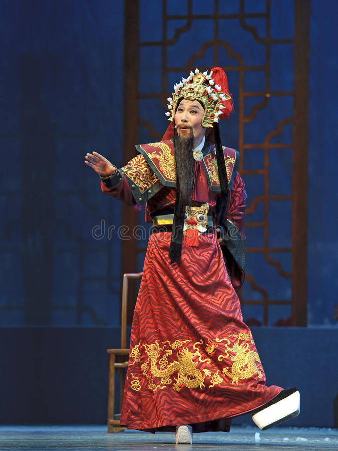 Attore cinese di opera di Yue fotografia stock