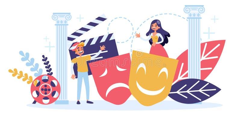 Attore del concetto di professione del cinema e del teatro royalty illustrazione gratis