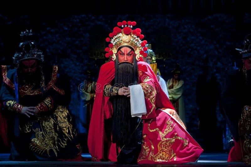 Attore tradizionale cinese di opera con il co teatrale fotografie stock libere da diritti