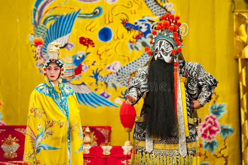 Attori delle troupe di opera di Pechino immagini stock