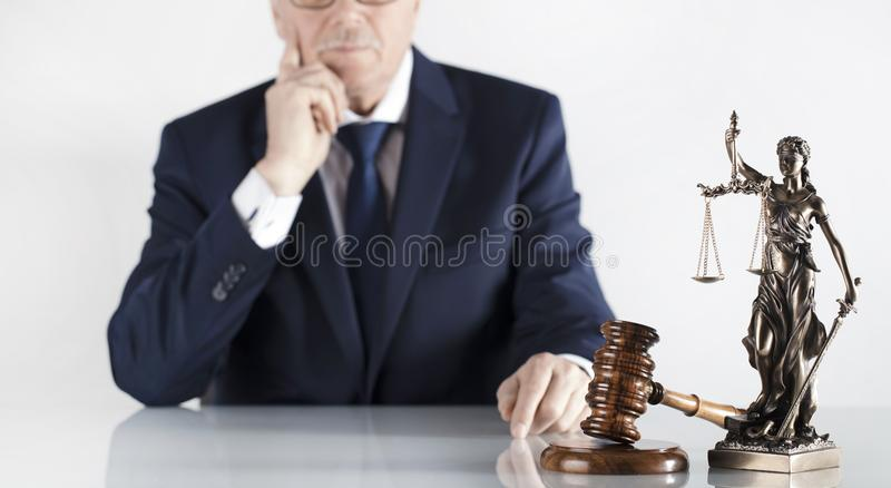 Attorney at law concept. Place for typography. stock photos