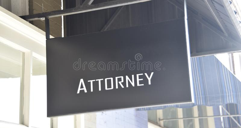 Attorney Trial Lawyers Legal Counselor Office. An Attorney  is one who is legally appointed to transact business on another`s behalf; especially when said stock photo