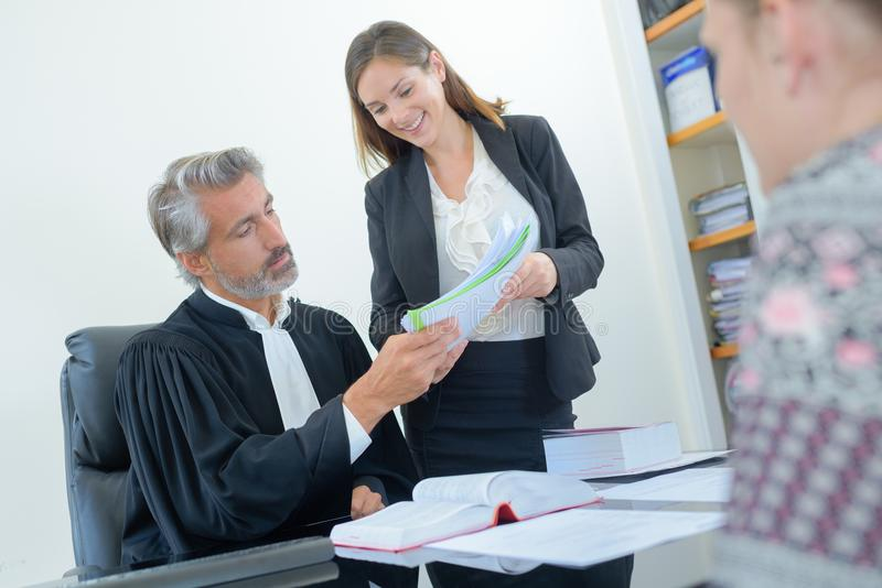 In the attorney`s office royalty free stock photos