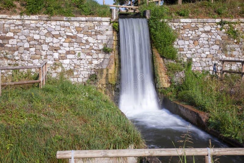Attorno aii bastioni di palmanova Udine di Cascata fotografia stock libera da diritti