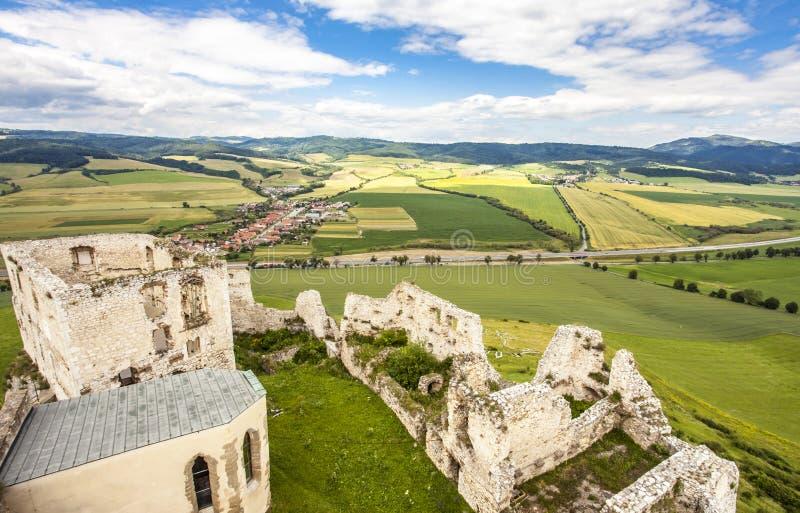 Attrac do patrimônio mundial do unesco de Eslováquia do hrad de Spissky do castelo de Zipser foto de stock royalty free