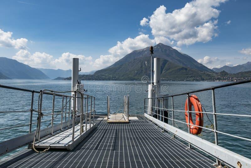 Attracco di Como del lago fotografia stock