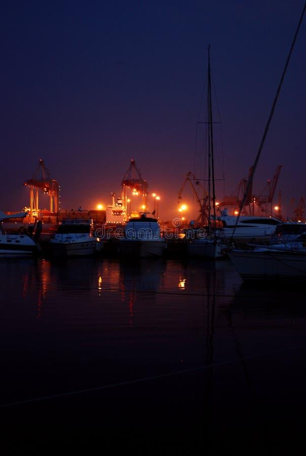 Attracco di notte fotografia stock