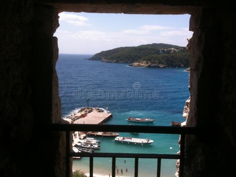 Attrack του κάστρου Tremiti στοκ φωτογραφία