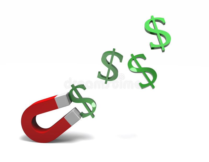 Download Attracting money stock illustration. Image of attraction - 26037432