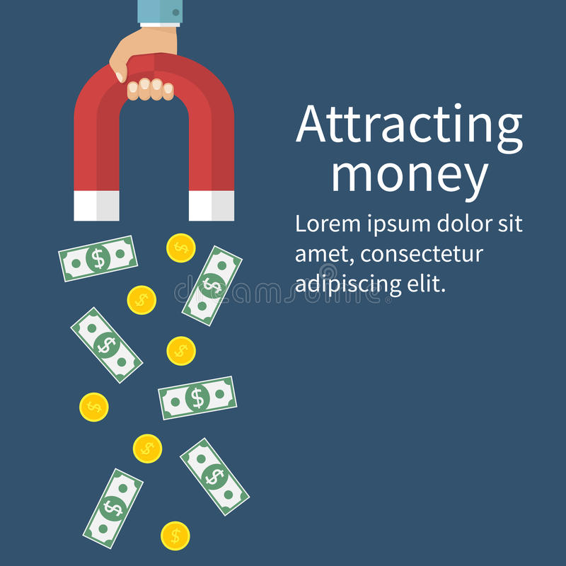 Attracting money concept stock illustration