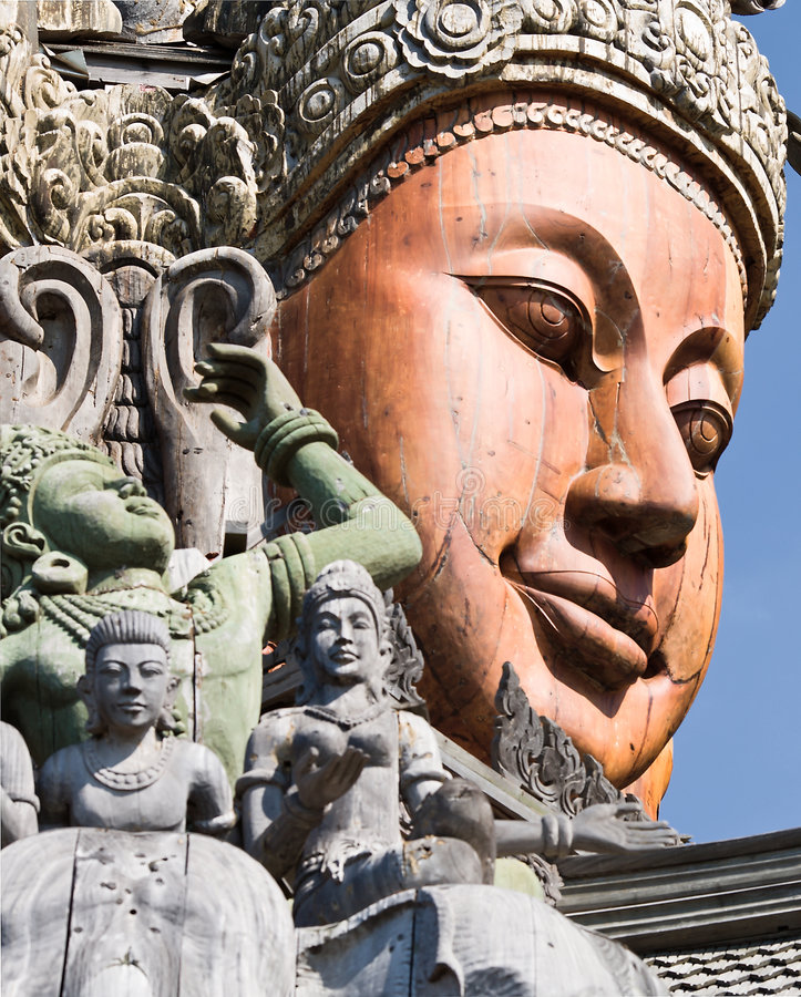 Free Attracting Pattaya The Santuary Of Truth Thailand. Stock Photos - 7721883