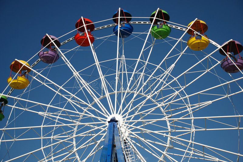 Attraction. In park over blue sky, amusement and fun stock photos