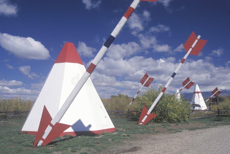 Attraction de bord de la route des teepees photographie stock libre de droits
