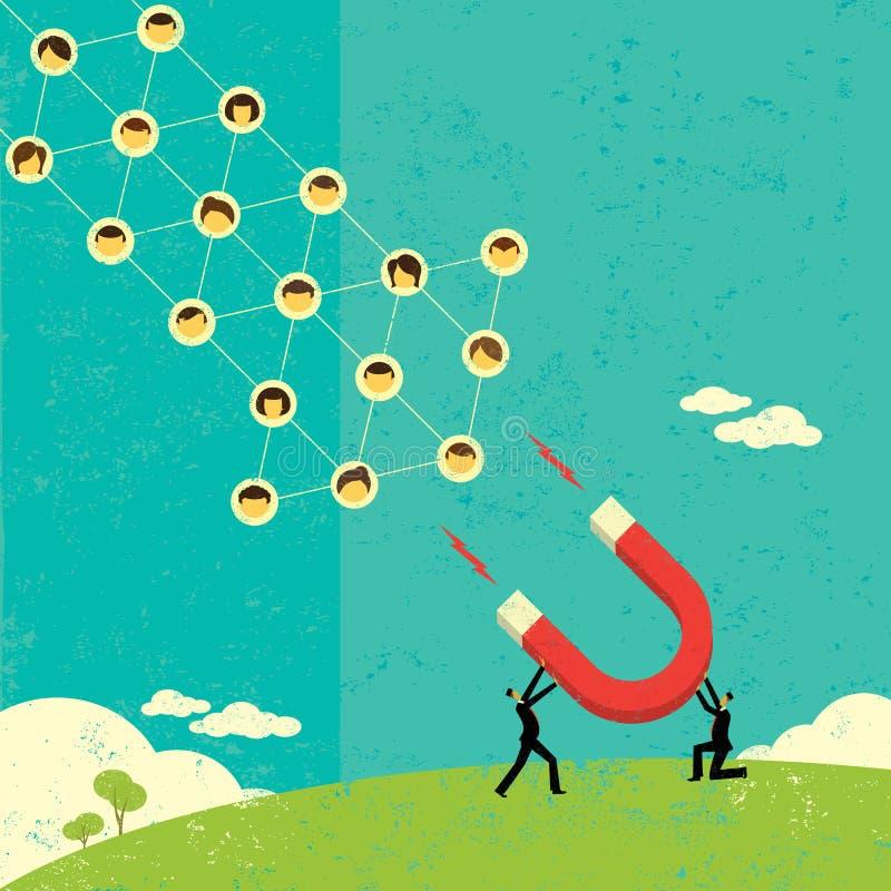 Attraction des réseaux sociaux illustration libre de droits