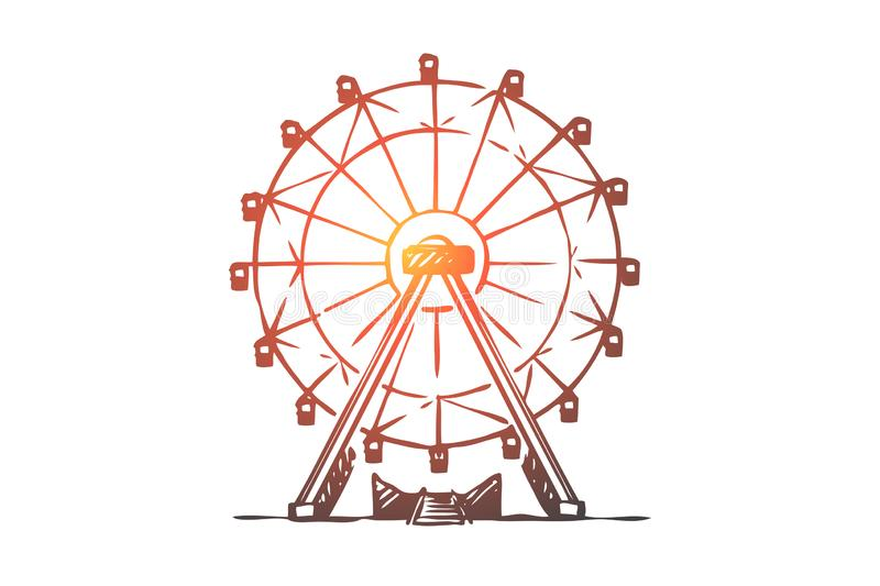 Ferris Wheel Coloring Page - Coloring Home | 533x800