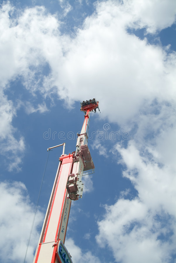 Attraction at the funfair royalty free stock image