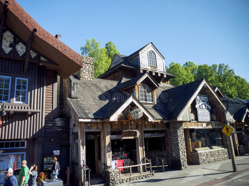 Attraction on Main Street in Gatlinburg a holiday resort in Tennessee USA. Gatlinburg in Tennessee attracts millions of tourists from all over the world stock image