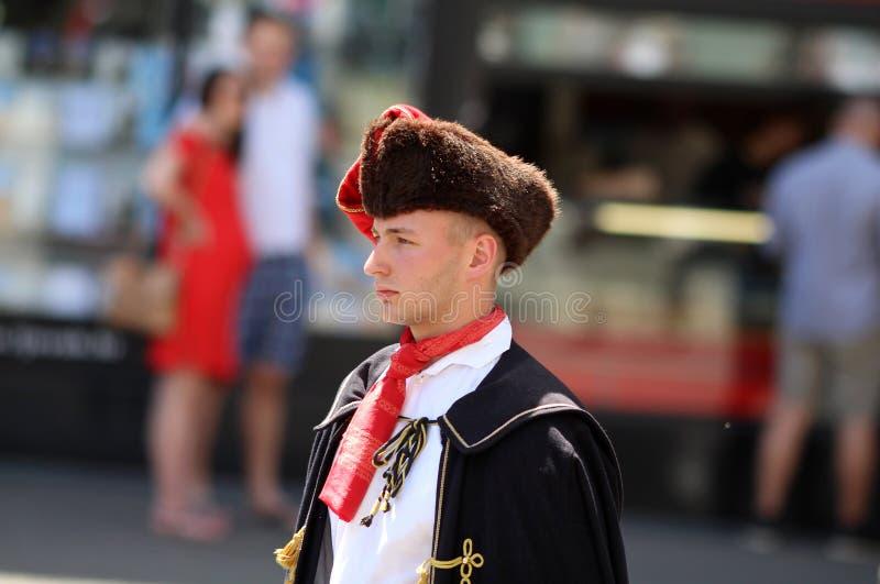 Attraction touristique de Zagreb/régiment de foulard images libres de droits