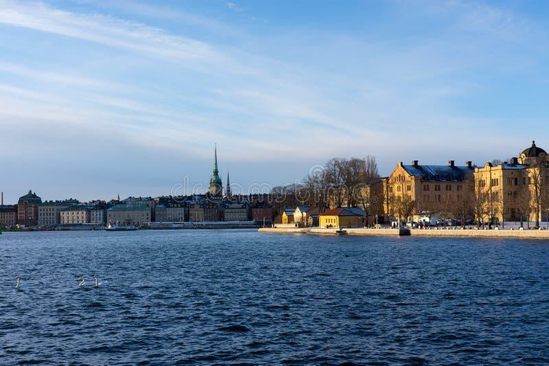 Attraction touristique populaire de Stockholm de vieille ville photo stock