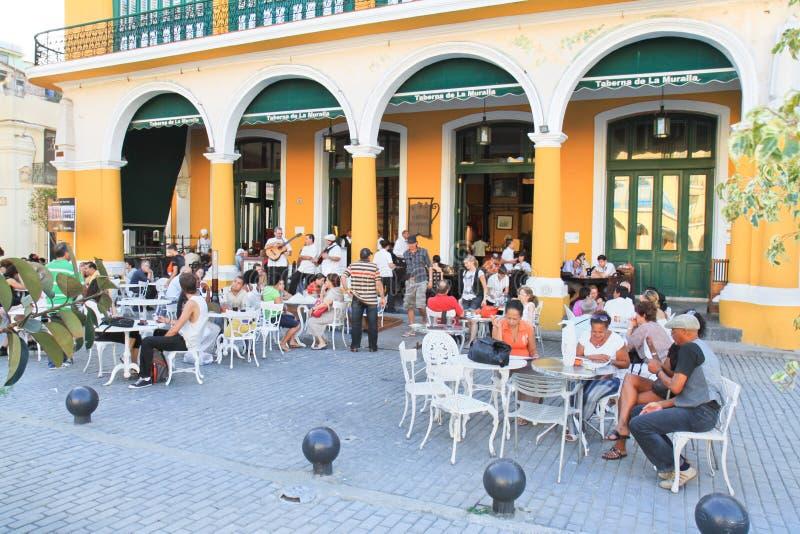 Attraction touristique principale de Taverna à La Havane image stock