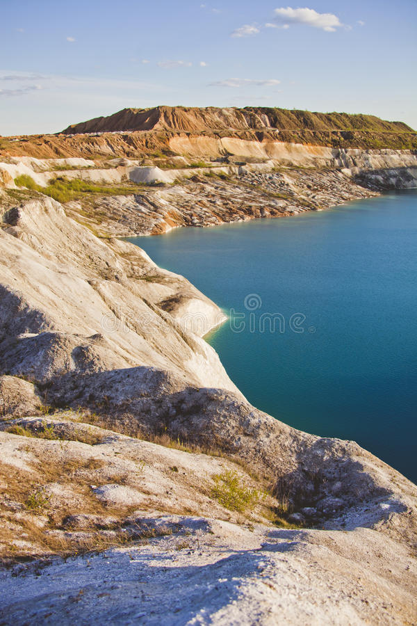 Attraction: Turquoise career at Volkovysk Belarus. Attraction: Turquoise career landscape at Volkovysk Belarus royalty free stock photo