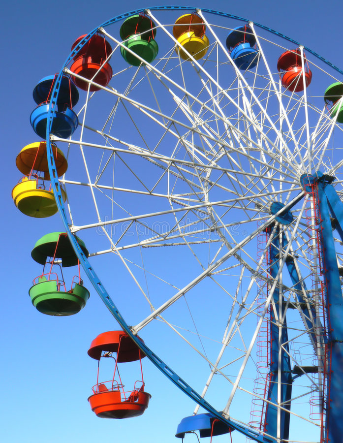 Download Attraction Is The Wheel Of Review Stock Image - Image of circle, light: 6834743