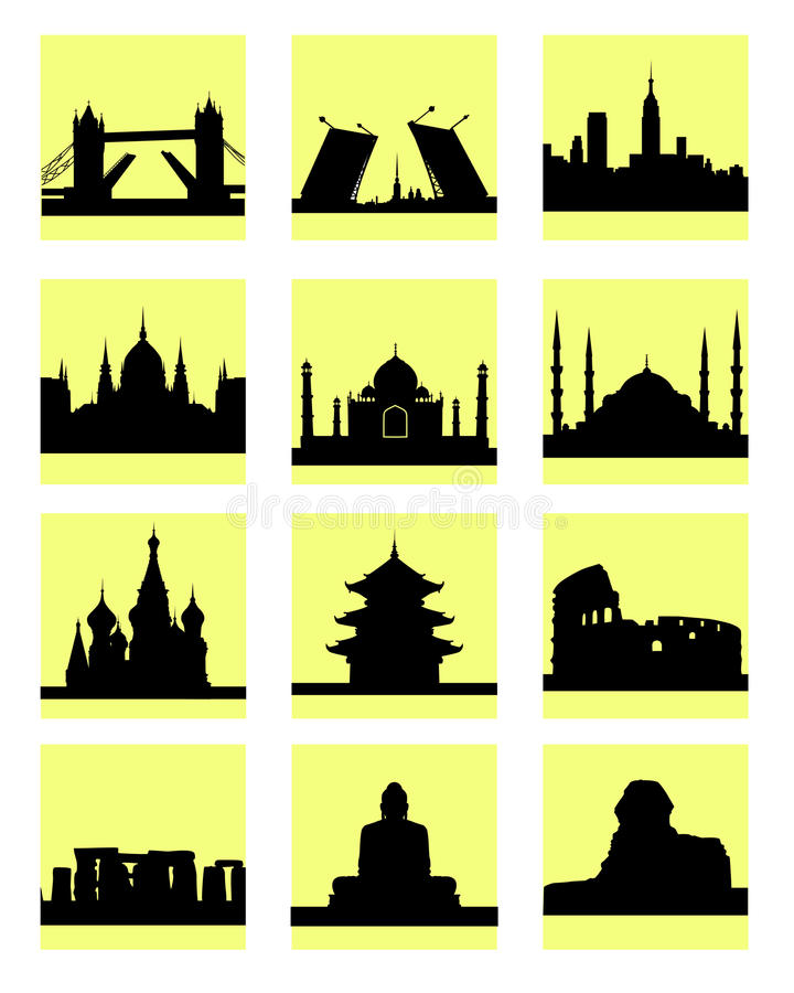 Download Attractions Countries Icon Stock Photo - Image: 32633030
