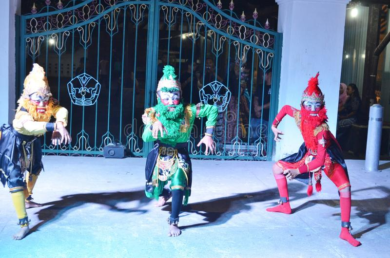 Attractions de danse de Ramayana dans l'atelier de Jogja Culturestock image stock