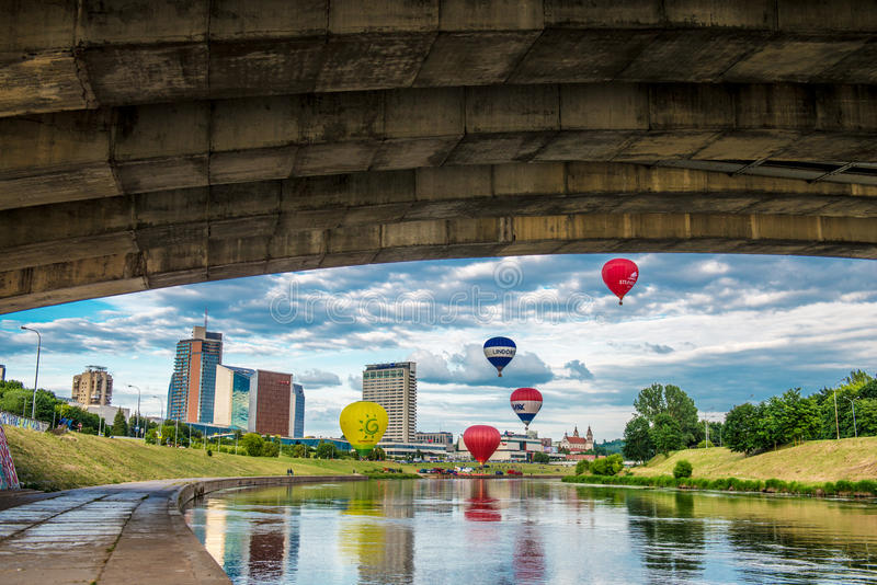 Attractions de Vilnius images libres de droits