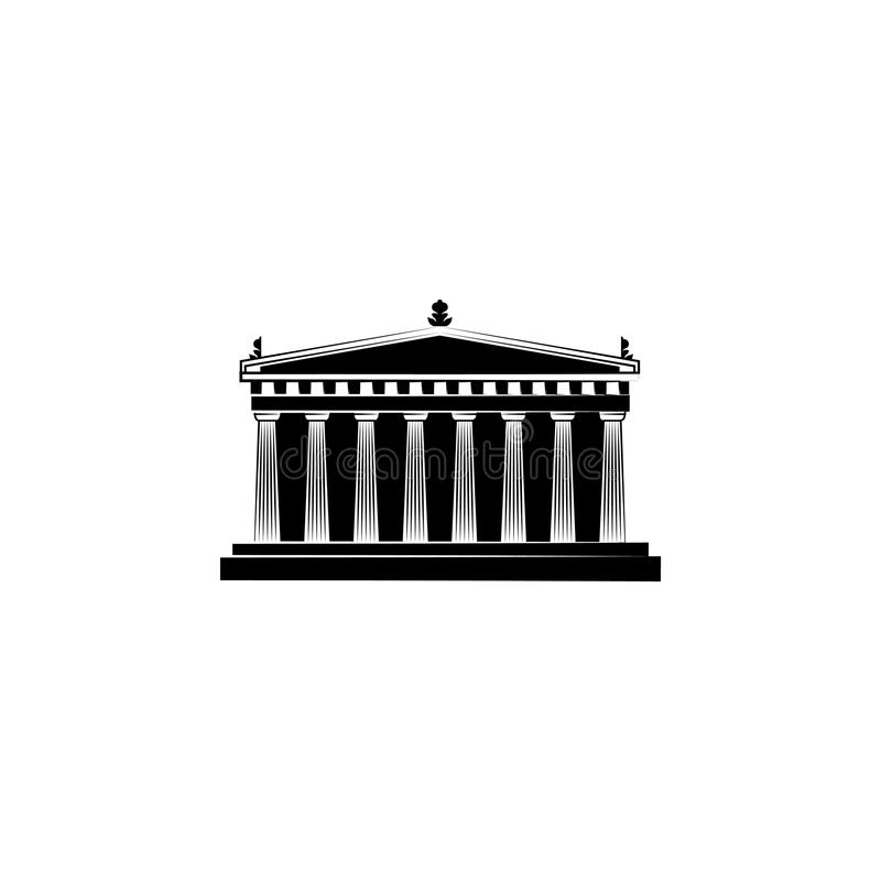 Attractions du monde Symbole de parthenon illustration libre de droits