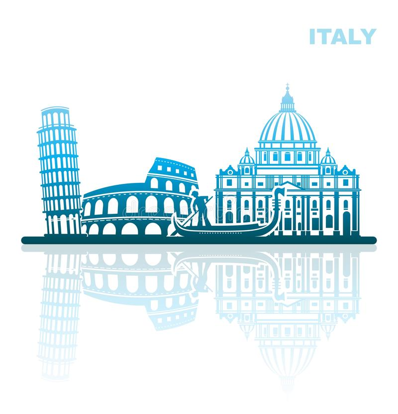 Attractions Italy. Abstract landscape royalty free illustration